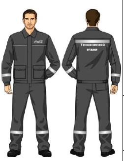Костюм (куртка, брюки, ЛЯМКИ) серый