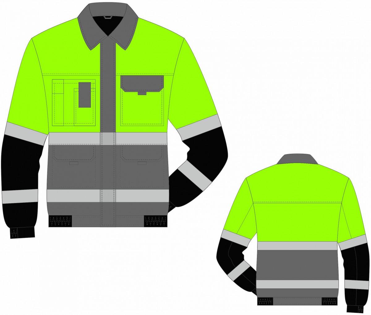 Костюм (куртка, брюки) серо-желтый