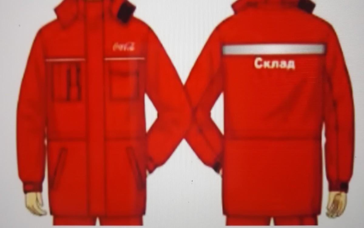 Куртка сменная для ИТР женская, ХЛ35/ПЭ65, красная