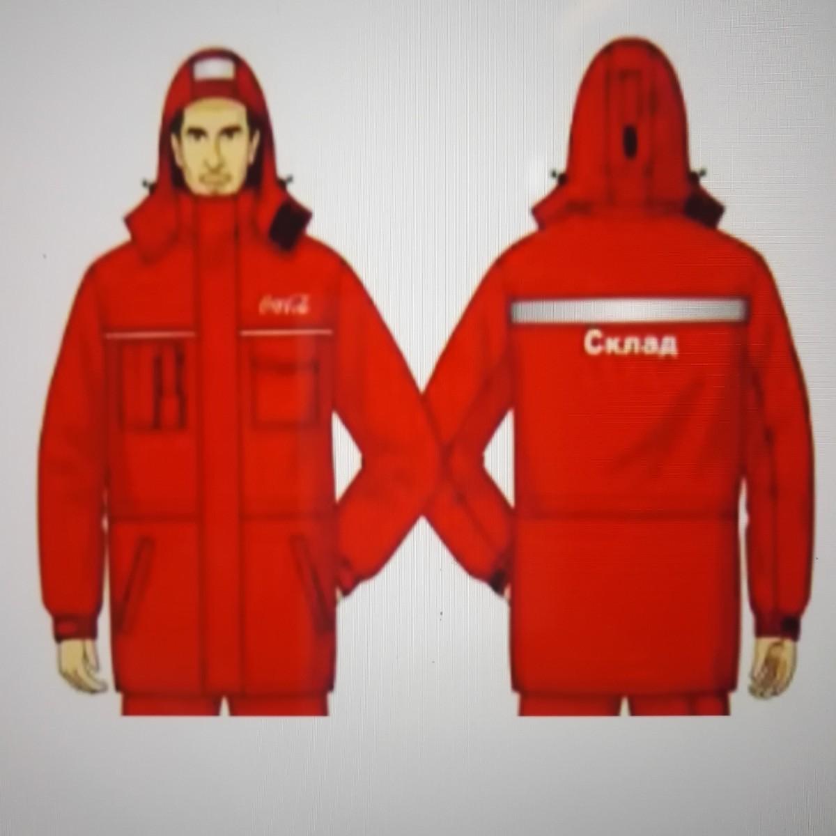 Куртка сменная для ИТР мужская, ХЛ35/ПЭ65, красная