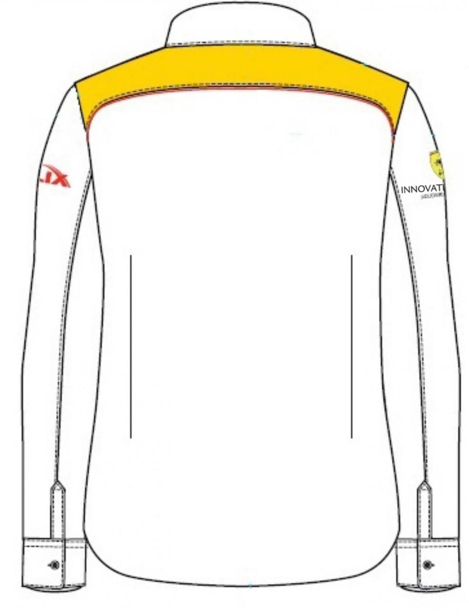 Рубашка женская с длинным рукавом (белая)