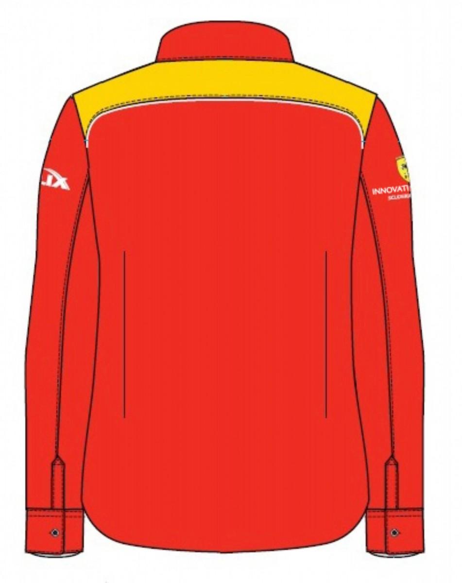 Рубашка женская с длинным рукавом (красная)