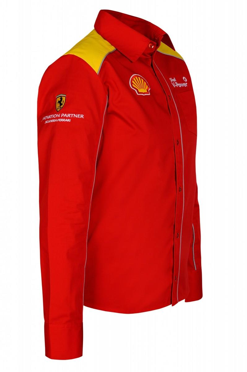 Рубашка мужская с длинным рукавом (красная)