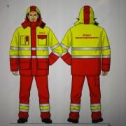 Костюм утепленный, (куртка, брюки на лямках), ХЛ35/ПЭ65  кр.желтые