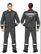 Костюм (куртка, брюки) серый