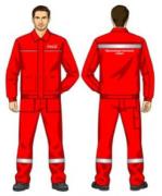 Костюм (куртка, брюки) красный