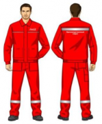 Костюм (куртка, ПОЛУКОМБИНЕЗОН) красный