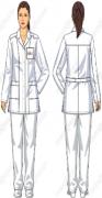 Костюм лабораторный (жакет, брюки) смесовая ткань