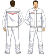Костюм (куртка, брюки) белый