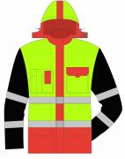 Костюм утепленный (отдел Транспортировок) (куртка,брюки), ХЛ35/ПЭ65  кр.ж.черн.