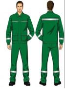 Костюм (Мултон) (куртка, брюки) зеленый
