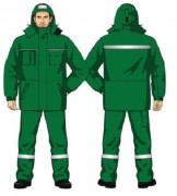 Костюм утепленный (куртка,брюки), ХЛ35/ПЭ65 зеленый