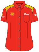 Рубашка женская с коротким рукавом (красная)