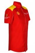 Рубашка мужская с коротким рукавом (красная)